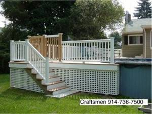 Merveilleux Pool Deck And Stairs To Yard, Ossining, NY 10562