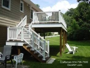 Pool Deck And Stairs To Yard, Ossining, NY 10562